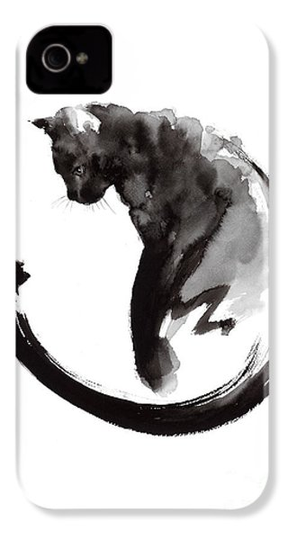 Black Cat IPhone 4 / 4s Case by Mariusz Szmerdt