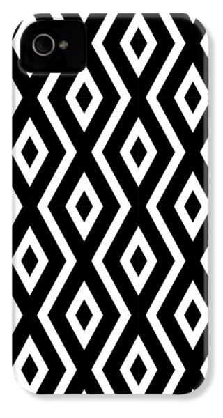 Black And White Pattern IPhone 4 Case by Christina Rollo