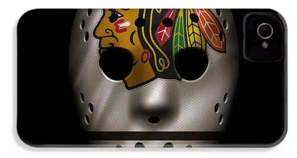 Blackhawks Jersey Mask IPhone 4 Case by Joe Hamilton