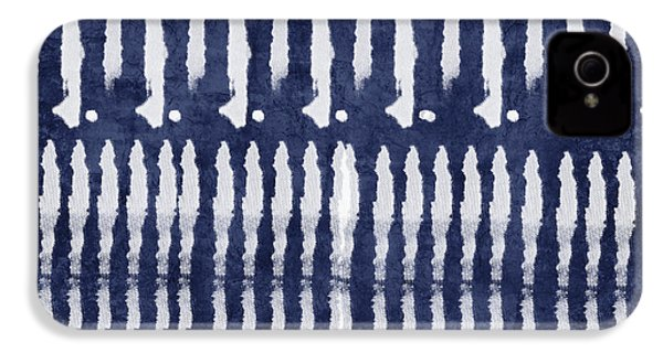 Blue And White Shibori Design IPhone 4 / 4s Case by Linda Woods