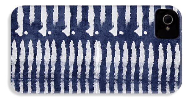 Blue And White Shibori Design IPhone 4 Case by Linda Woods