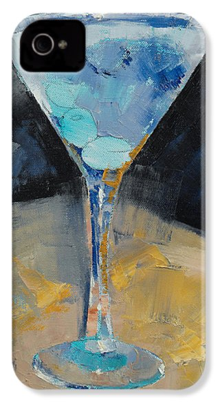 Blue Art Martini IPhone 4 / 4s Case by Michael Creese
