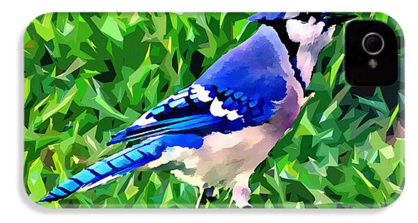 Blue Jay IPhone 4 / 4s Case by Stephen Younts