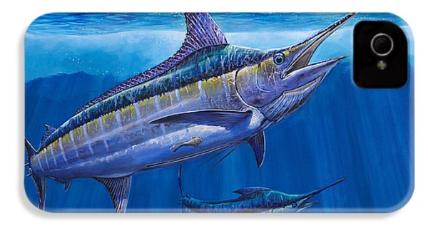 Blue Marlin Bite Off001 IPhone 4 Case by Carey Chen