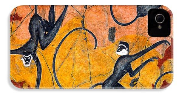 Blue Monkeys No. 9 - Study No. 4 IPhone 4 Case