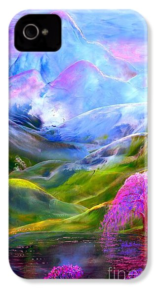 Blue Mountain Pool IPhone 4 Case by Jane Small