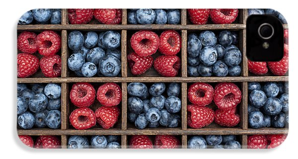 Blueberries And Raspberries  IPhone 4 / 4s Case by Tim Gainey