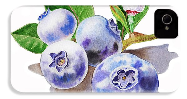 Artz Vitamins The Blueberries IPhone 4 Case by Irina Sztukowski