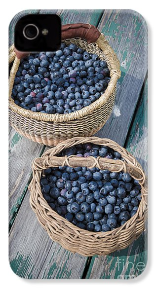 Blueberry Baskets IPhone 4 Case by Edward Fielding