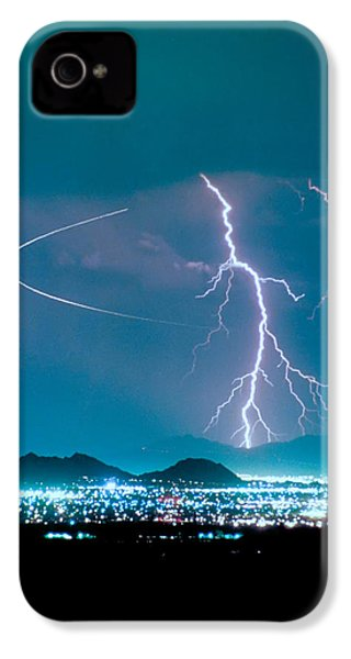 Bo Trek The Lightning Man IPhone 4 Case by James BO  Insogna