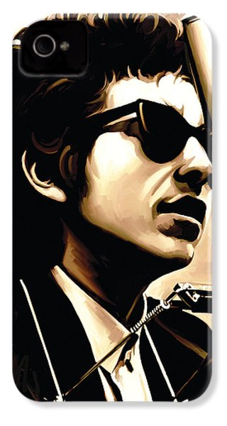 Bob Dylan Artwork 3 IPhone 4 Case by Sheraz A