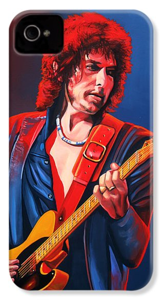 Bob Dylan Painting IPhone 4 Case by Paul Meijering