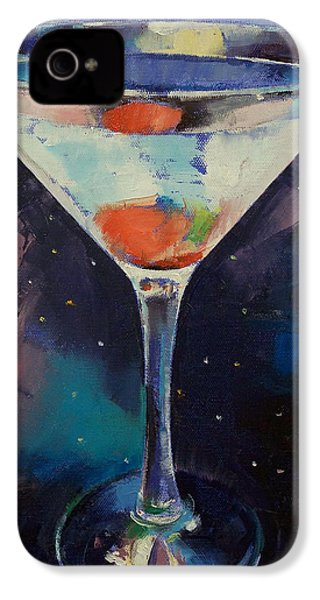 Bombay Sapphire Martini IPhone 4 Case by Michael Creese