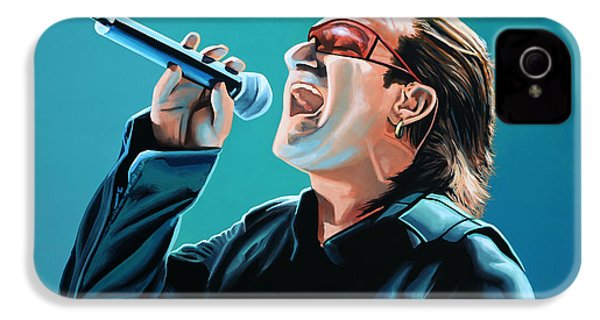 Bono Of U2 Painting IPhone 4 Case by Paul Meijering