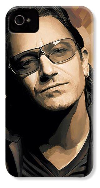 Bono U2 Artwork 2 IPhone 4 / 4s Case by Sheraz A