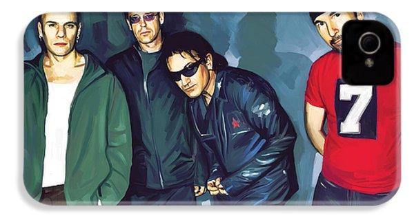 Bono U2 Artwork 5 IPhone 4 / 4s Case by Sheraz A