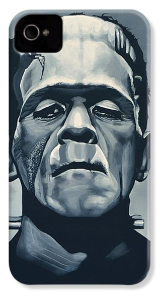 Boris Karloff As Frankenstein  IPhone 4 Case by Paul Meijering
