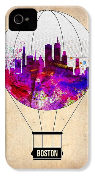 Boston Air Balloon IPhone 4 Case by Naxart Studio