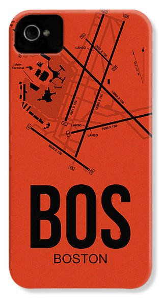 Boston Airport Poster 2 IPhone 4 Case by Naxart Studio