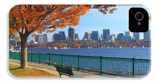 Boston Charles River In Autumn IPhone 4 Case by John Burk