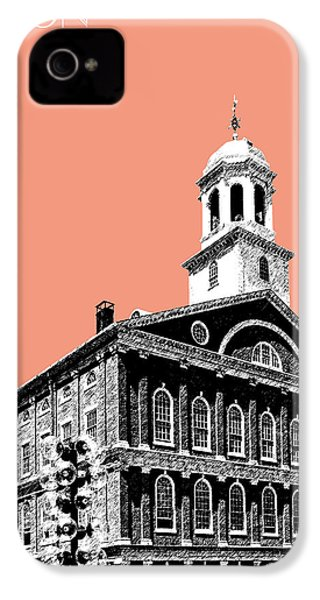 Boston Faneuil Hall - Salmon IPhone 4 Case by DB Artist