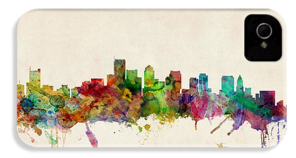 Boston Skyline IPhone 4 Case by Michael Tompsett