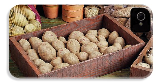 Box Of Potatoes IPhone 4 Case by Geoff Kidd