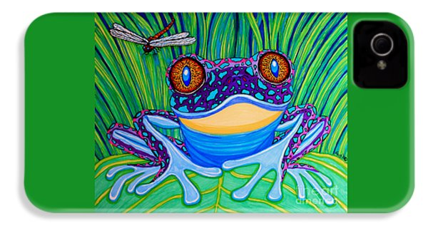 Bright Eyed Frog IPhone 4 Case by Nick Gustafson