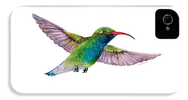 Broad Billed Hummingbird IPhone 4 Case by Amy Kirkpatrick