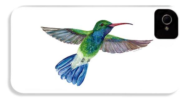 Broadbilled Fan Tail Hummingbird IPhone 4 / 4s Case by Amy Kirkpatrick