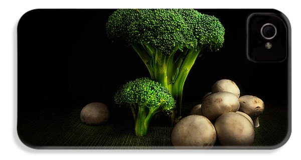 Broccoli Crowns And Mushrooms IPhone 4 / 4s Case by Tom Mc Nemar