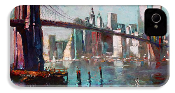Brooklyn Bridge And Twin Towers IPhone 4 Case