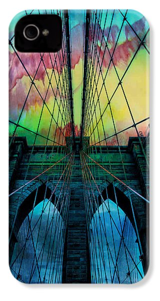 Psychedelic Skies IPhone 4 Case by Az Jackson