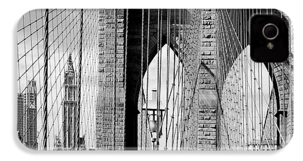 Brooklyn Bridge New York City Usa IPhone 4 / 4s Case by Sabine Jacobs