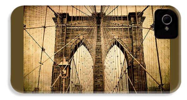 Brooklyn Bridge Nostalgia IPhone 4 Case by Jessica Jenney