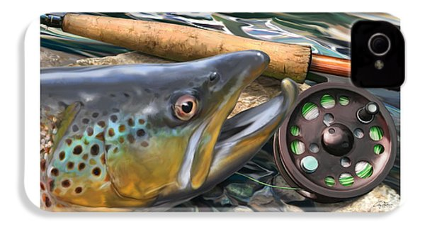 Brown Trout Sunset IPhone 4 / 4s Case by Craig Tinder