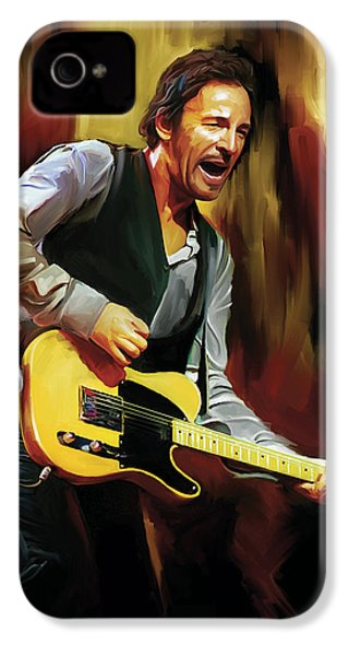 Bruce Springsteen Artwork IPhone 4 / 4s Case by Sheraz A