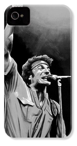 Bruce Springsteen IPhone 4 Case by Meijering Manupix