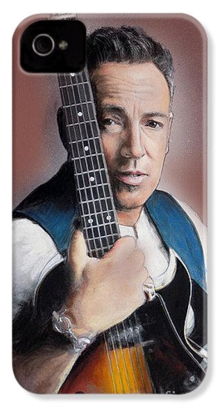 Bruce Springsteen IPhone 4 Case by Melanie D