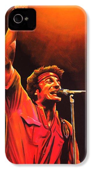 Bruce Springsteen Painting IPhone 4 Case by Paul Meijering