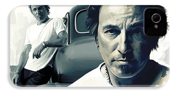 Bruce Springsteen The Boss Artwork 1 IPhone 4 / 4s Case by Sheraz A