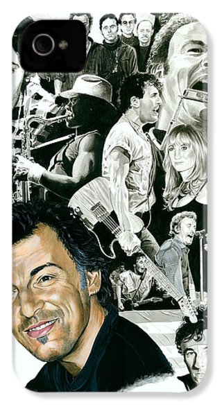Bruce Springsteen Through The Years IPhone 4 Case by Ken Branch