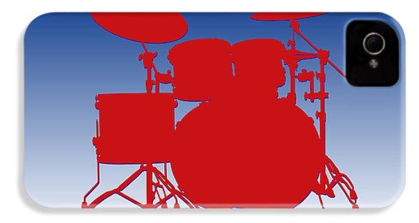 Buffalo Bills Drum Set IPhone 4 Case by Joe Hamilton