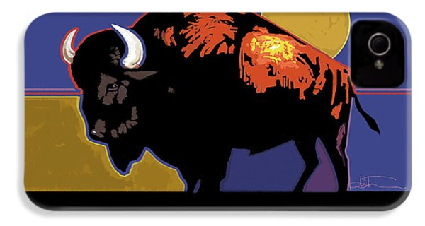 Buffalo Moon IPhone 4 Case by R Mark Heath