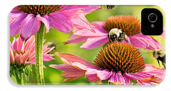 Bumbling Bees IPhone 4 Case by Bill Pevlor
