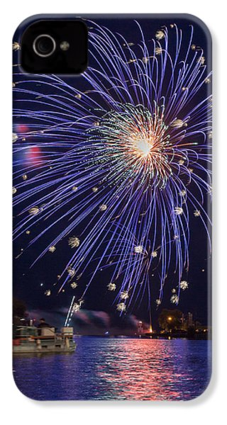 Burst Of Blue IPhone 4 Case by Bill Pevlor