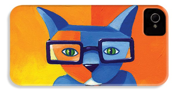Business Cat IPhone 4 Case by Mike Lawrence