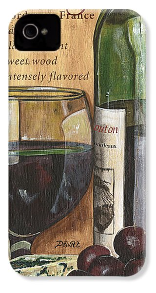 Cabernet Sauvignon IPhone 4 Case by Debbie DeWitt