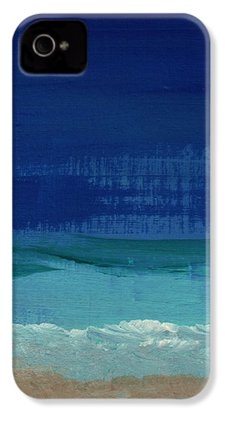 Calm Waters- Abstract Landscape Painting IPhone 4 / 4s Case by Linda Woods