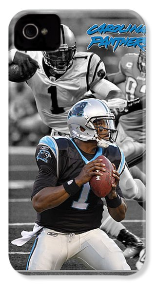 Cam Newton Panthers IPhone 4 / 4s Case by Joe Hamilton